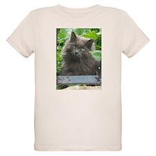 Long Haired Russian Blue Cat T-Shirt