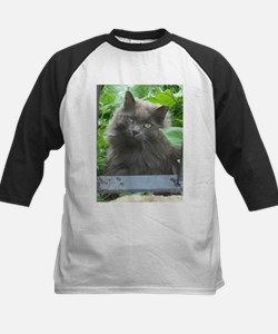 Long Haired Russian Blue Cat Baseball Jersey
