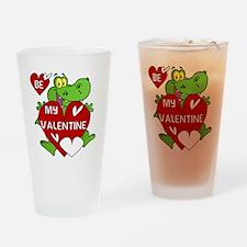 Crocodile Be My Valentine Drinking Glass