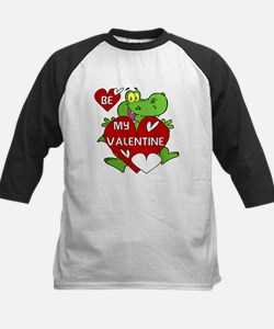 Crocodile Be My Valentine Kids Baseball Jersey