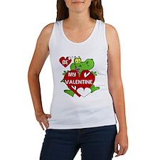 Crocodile Be My Valentine Women's Tank Top