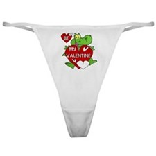 Crocodile Be My Valentine Classic Thong