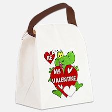 Crocodile Be My Valentine Canvas Lunch Bag