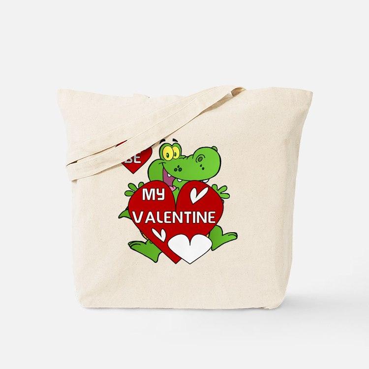 Crocodile Be My Valentine Tote Bag