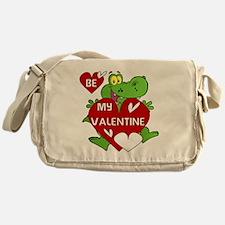 Crocodile Be My Valentine Messenger Bag