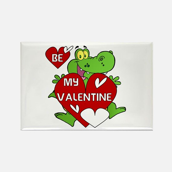 Crocodile Be My Valentine Rectangle Magnet