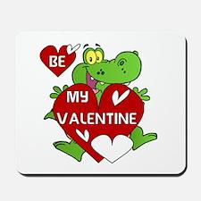 Crocodile Be My Valentine Mousepad