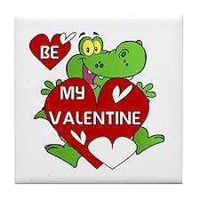 Crocodile Be My Valentine Tile Coaster