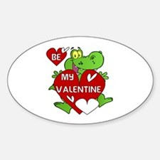 Crocodile Be My Valentine Decal