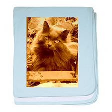 Vintage Russian Blue Cat baby blanket