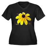 Ameriku Women's Plus Size V-Neck Dark T-Shirt