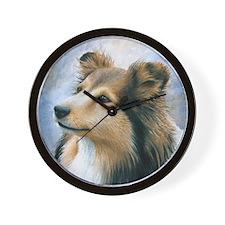 Dog 122 Sheltie Collie Wall Clock