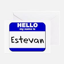 hello my name is estevan  Greeting Cards (Package
