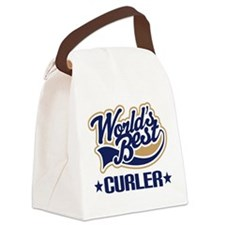 Curler (Worlds Best) Canvas Lunch Bag