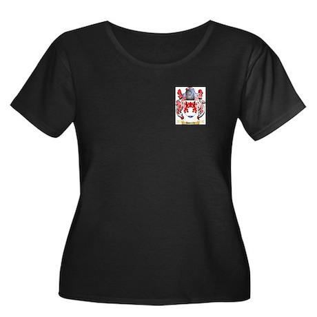Donnelly Women's Plus Size Scoop Neck Dark T-Shirt