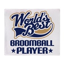Broomball Player Throw Blanket
