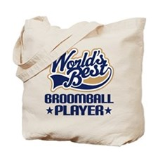 Broomball Player Tote Bag