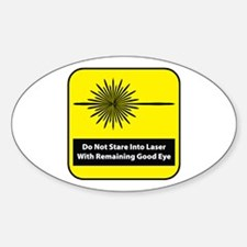Do Not Stare Oval Decal