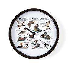 Ducks of North America Wall Clock