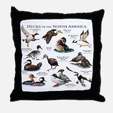 Ducks of North America Throw Pillow