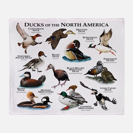 Ducks of North America Throw Blanket