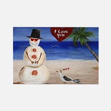 Beachy Valentine Sandman Magnets