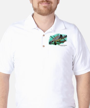 Fly River Turtle Golf Shirt