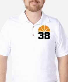 Basketball Number 38 Player Gift T-Shirt