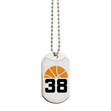 Basketball Number 38 Player Gift Dog Tags