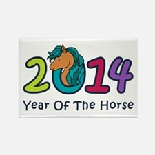 Cute Horse 2014 Year Rectangle Magnet