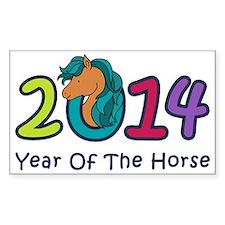Cute Horse 2014 Year Decal