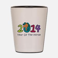 Cute Horse 2014 Year Shot Glass