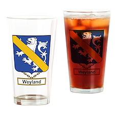 Weyland Family Crest Drinking Glass