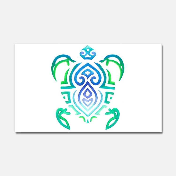 Tribal Turtle Car Magnet 20 x 12