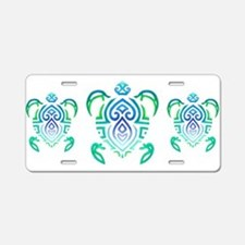 Tribal Turtle Aluminum License Plate