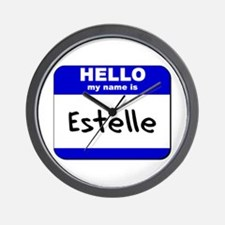 hello my name is estelle  Wall Clock