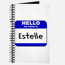 hello my name is estelle Journal
