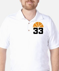Basketball Number 33 Player Gift T-Shirt