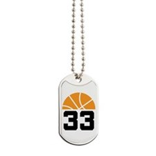 Basketball Number 33 Player Gift Dog Tags