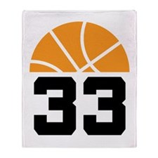 Basketball Number 33 Player Gift Throw Blanket