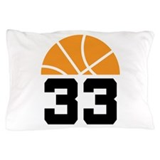 Basketball Number 33 Player Gift Pillow Case