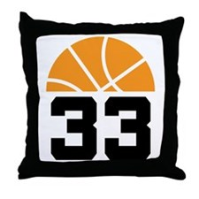 Basketball Number 33 Player Gift Throw Pillow