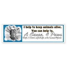A cause, 4pawsBumper Bumper Sticker