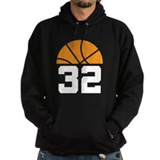 Basketball Number 32 Player Gift Hoodie
