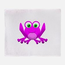 PINK FROG Throw Blanket