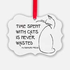 time with cats Ornament