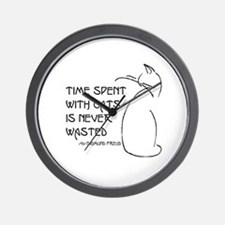 time with cats Wall Clock