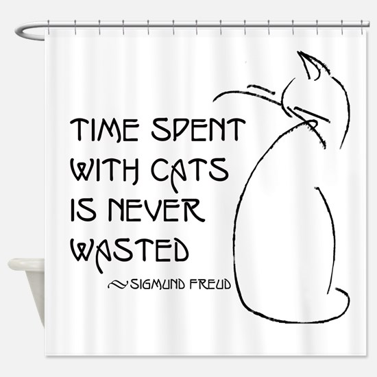time with cats Shower Curtain