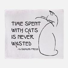 time with cats Throw Blanket