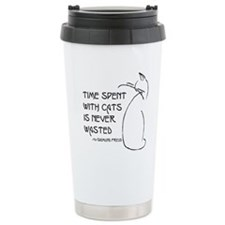 time with cats Travel Mug